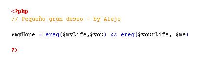 Pequeño gran deseo - por Alejo